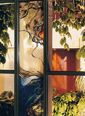 Fensterglas-Kunst
